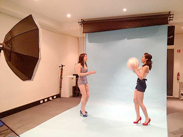 Behind the Scenes on a photo shoot - Retro Swimsuit
